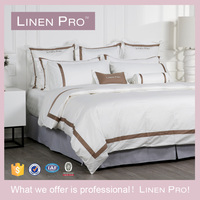 LinenPro Hotel Supply 300TC Sateen Bedding Set Cotton Bed Sheets