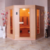 HS-SR180JX indoor 71 inch length family 4 person use far infrared sauna