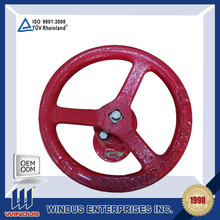 spray paint sand casting valve control spoked cast iron hand wheel