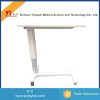 Wholesale Movable Adjustment Hospital Bed Tray Food Table with wheels