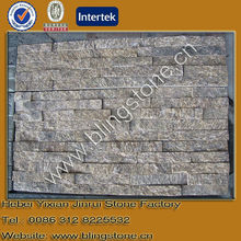 Natural yellow gneiss granite outdoor stone wall tiles