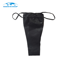Disposable Nonwoven Woman Wearing Black Sexy Panties