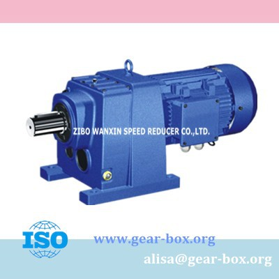 R series Helical gear motor shaft mount