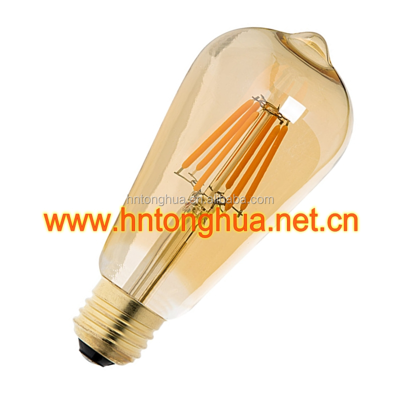 Decorative LED Filament Light Bulbs Vintage Retro Antique Industrial Style Lights Edison Bulbs ST64 2W/4W/6W