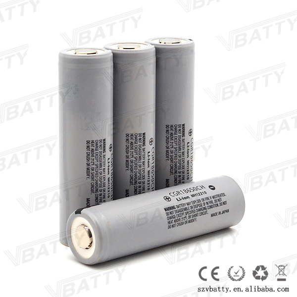 Grey japan made 10A discharge high power li-ion 18650 3.6V 2250mAh battery cgr18650ch