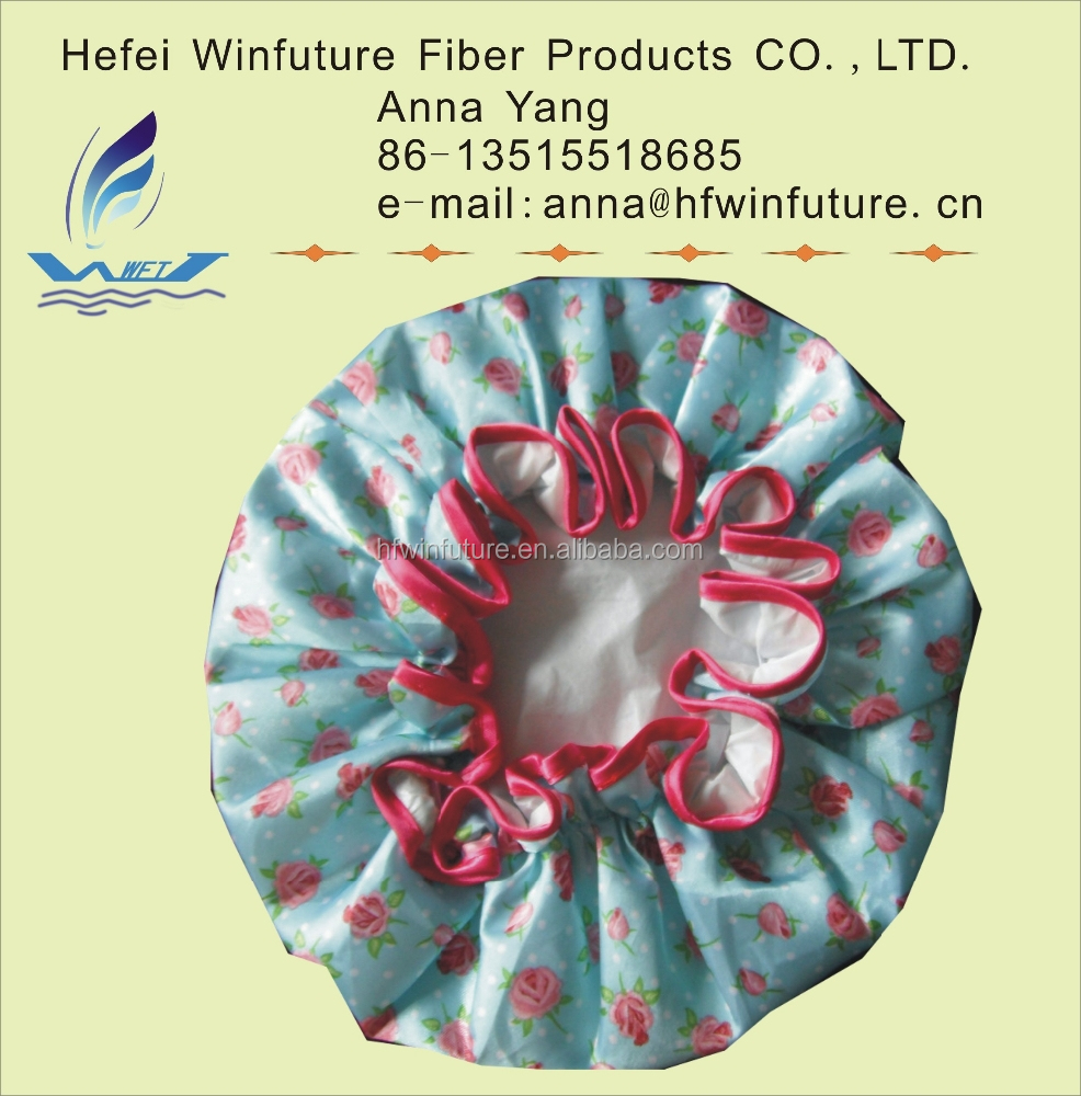 plastic disposable shower cap