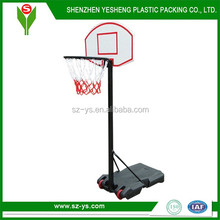 Removable basketball set for kids with adjustable pole height