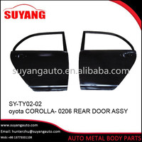 Replacement steel rear door Toyota corolla 0206 Auto Body Parts