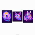 Digital Animal Painting Prints Canvas Home Wall Decoration Zebra Panda Cat Photography Canvas Arts Ready to Hang on Wall