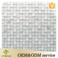 Building Material Shower Room Decoration Mother Of Pearl Seashell Mosaic Tile