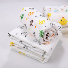 Gift box packaging 4 pcs 100% cotton muslin swaddle blankets for kids