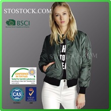 Wholesale ladies satin thin jacket custom women clothes woman souvenir varsity spring bomber jacket