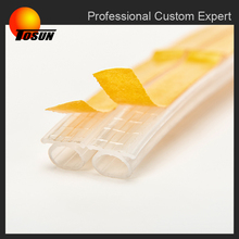 OEM eco friendly FDA ROHS ISO certificated colorful extrusion rubber table edging trim