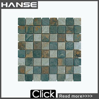 HS-M2211 best price small piece square pebble stone floor mat