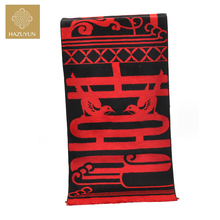 New Design Double Layer Screen Print and Brushed 100% Men Silk Scarf