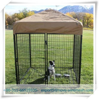 Outdoors large welded dog cages & dog kennel made in china