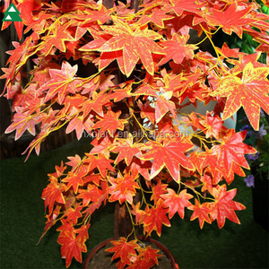 Cheap artificial maple tree synthetic maple tree leaves