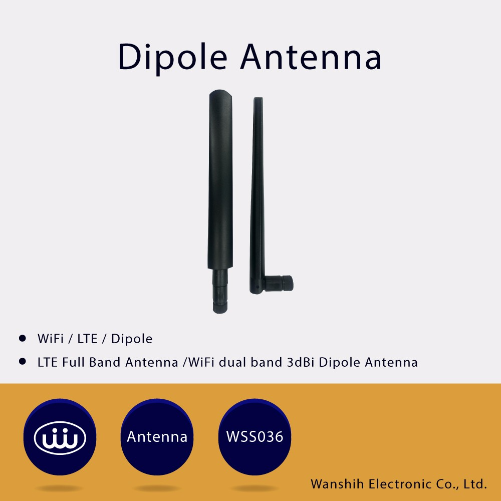 IP67 dipole WiFi LTE 3G 4G Qual band Free Sample wireless antenna