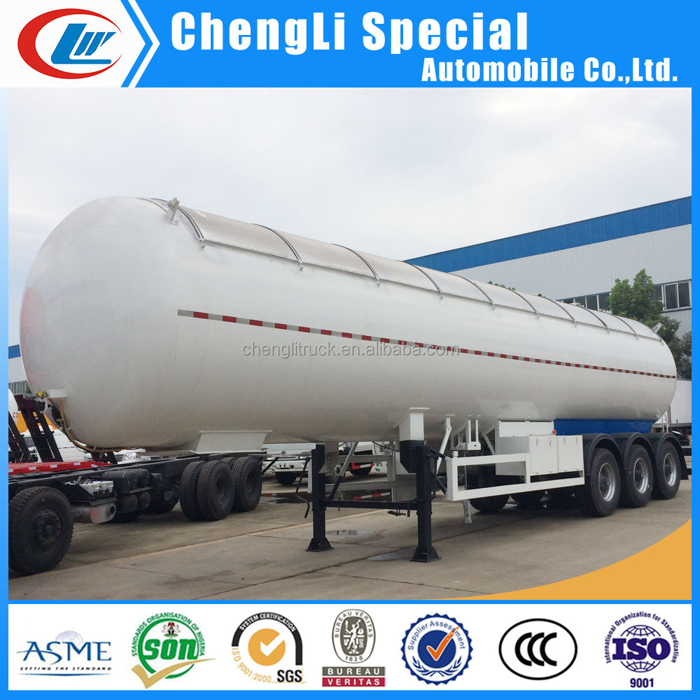 ASME 59.52cbm gas delivery tanker 25ton 3 axle lpg delivery tank truck trailer