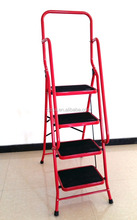 Hot 4 step household ladder with handrail factory supply