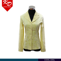 Latest casual suit design beige color t shirt woman wholesale