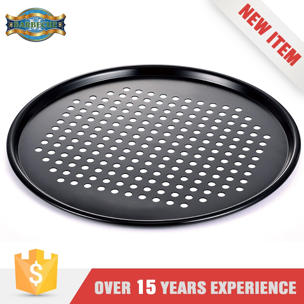 Factory Price Stamped Steel Mesh Pan Oven Cheap Pizza Pans