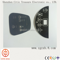 Graphic Overlay Panel Membrane Switch, Flexible Remote Control Switch Panel