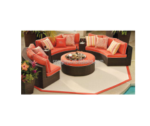 2015 Modern cheap outdoor wicker furniture circular furniture sofa