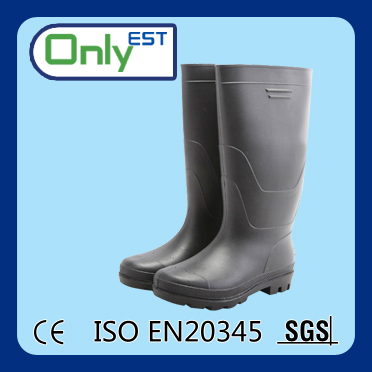 OEM knee high cheap safety unisex waterproof pvc material nitrile rubber boots