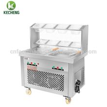 double frozen roll fry ice pan machine/double pan ice pan machine/fried ice cream machine for snack food
