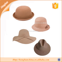 light tan polyester wool felt hats