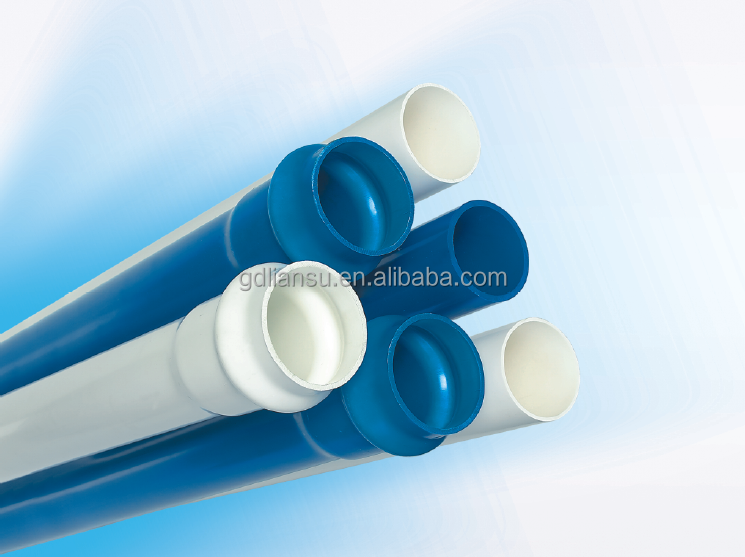 pvc plastic pipe white colour pvc pipe for hot water or for cold water