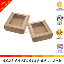 china custom clear window food retail box packaging