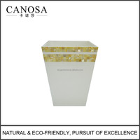 CGM-RB Good Quality Golden Mother of Pearl Waste Bin Wholesale