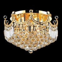 Factory Outlet golden small crown crystal chandelier ceiling lamp indoor lighting design