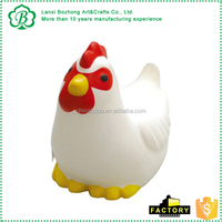 2016 CE approval factory directly promotional foam custom Chicken Stress Squeeze Toy