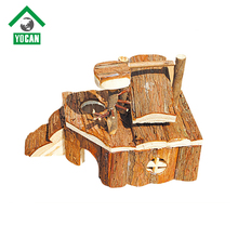 Beautiful design sloping roof hamster wooden house