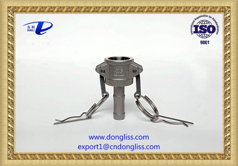 "<strong>11</strong>/2"" high quality casting stainless steel 316 camlock quick disconnect coupling part <strong>C</strong>"