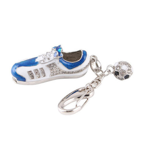 2015 Bulk Cheap metal football shoes 1gb jewelry usb flash drive 16gb pen drive jewellery usb stick