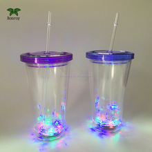Fun LED Light Up Drinking Bottle with Straw
