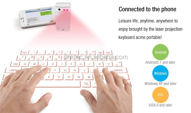 Multi function Bluetooth Wireless Laser Projection QWERTY Keyboard + Mouse + Speaker + Keyboard Sound device for Touch-typing