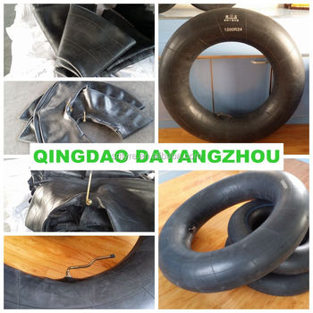 Shandong supplier truck tire inner tube 12.00R24 1200-24 butyl rubber tube and flap in China