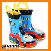 High quality thomas model plastic rain boots kids rain boots safety rain boots