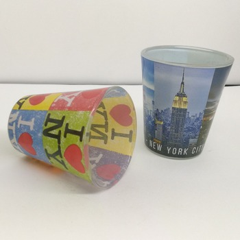 Top quality promotion OEM glass cup printing shot Glass souvenir shot glass