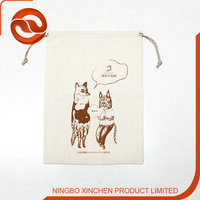 design fashionable pouch bag kids organic cotton drawstring bags