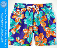 2014 men swim trunks hot sexi photo image flower printed blank board shorts wholesale