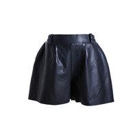 Custom high quality short pu leisure pants