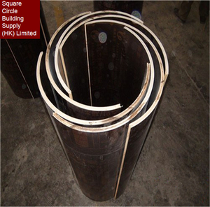 Waterproof Construction Prefabricated Column Formwork semicircle Column Formwork with High Quality Circular Laminated