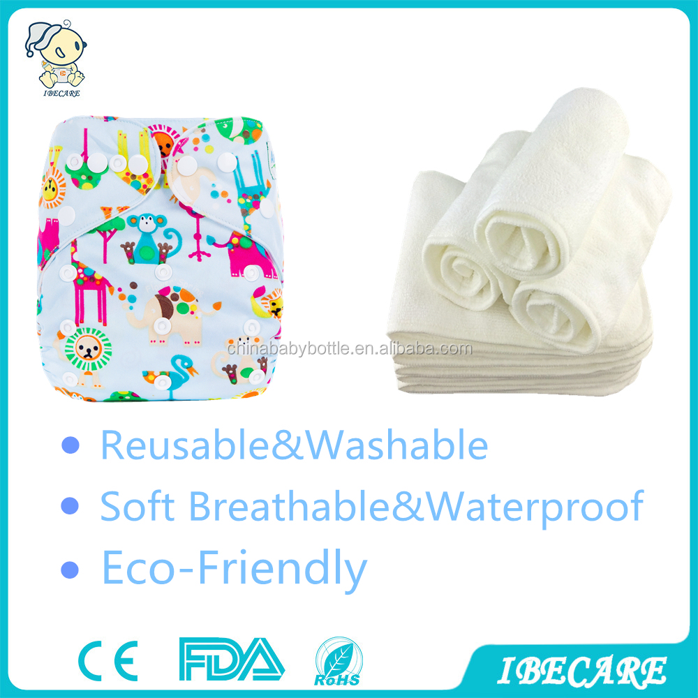 IBECARE 2016 Print PUL cloth diaper new design reusable baby cloth diaper