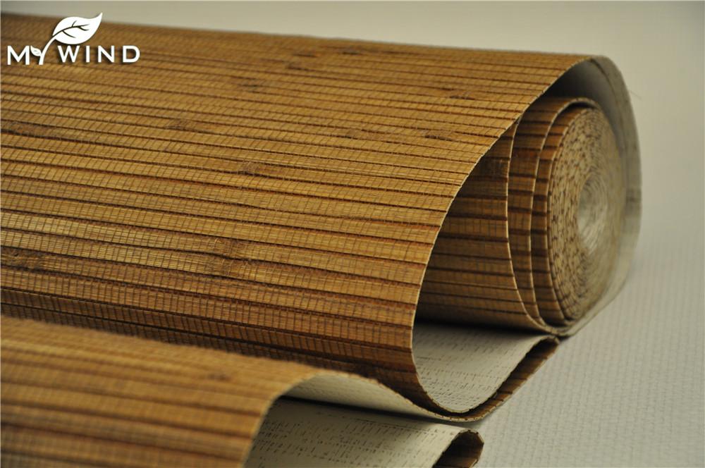 Restaurant rev tement mural papier peint en bambou d 39 int rieur papiers pe - Revetement mural bambou ...